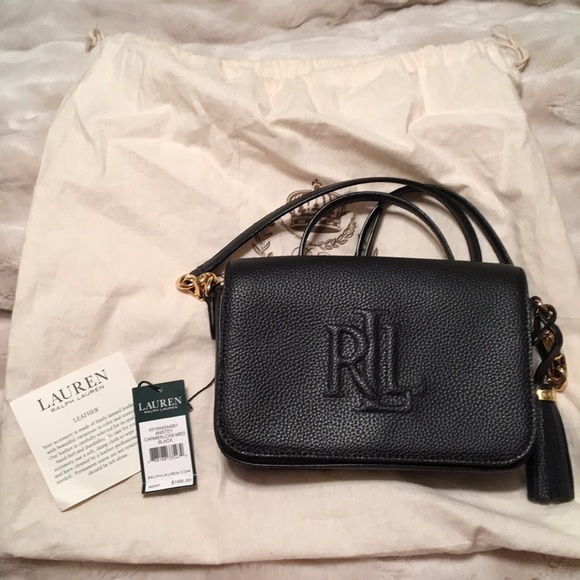 495b596f1c53 Lauren Ralph Lauren Handbags - Lauren Anstey Carmen Medium black bag